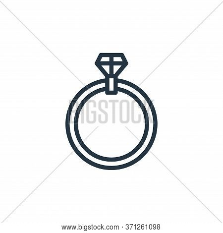 Ring Vector Icon. Ring Editable Stroke. Ring Linear Symbol For Use On Web And Mobile Apps, Logo, Pri