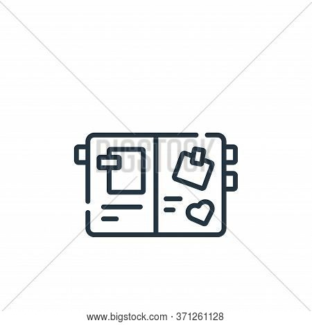 Scrapbook Vector Icon. Scrapbook Editable Stroke. Scrapbook Linear Symbol For Use On Web And Mobile