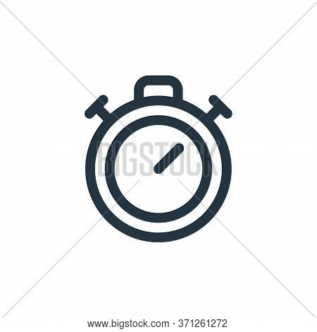 Stopwatch Vector Icon. Stopwatch Editable Stroke. Stopwatch Linear Symbol For Use On Web And Mobile