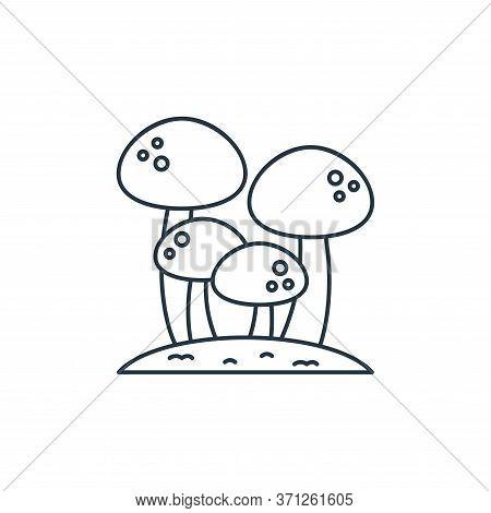 Mushroom Vector Icon. Mushroom Editable Stroke. Mushroom Linear Symbol For Use On Web And Mobile App