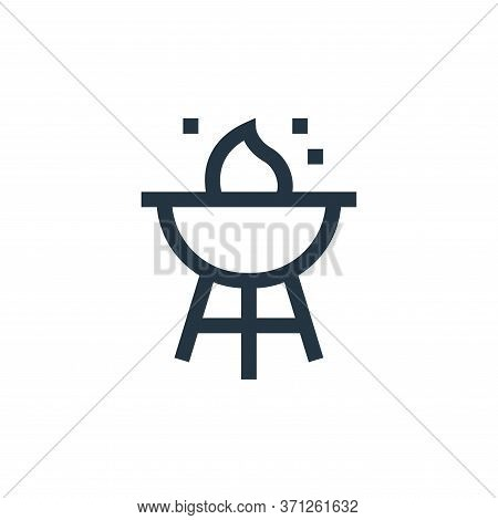 Barbecue Vector Icon. Barbecue Editable Stroke. Barbecue Linear Symbol For Use On Web And Mobile App