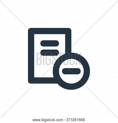 Remove File Vector Icon. Remove File Editable Stroke. Remove File Linear Symbol For Use On Web And M