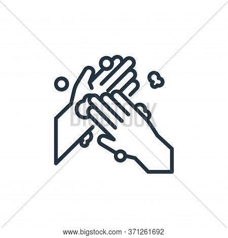 Hand Palm Vector Icon. Hand Palm Editable Stroke. Hand Palm Linear Symbol For Use On Web And Mobile