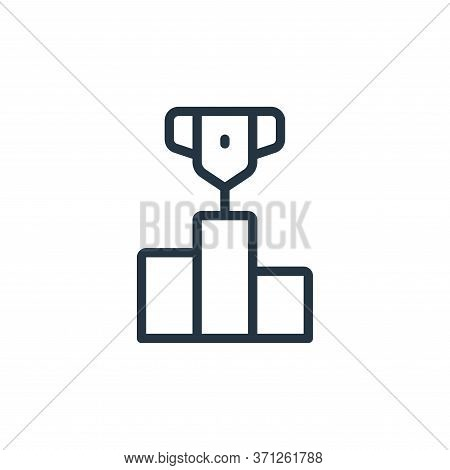 Podium Vector Icon. Podium Editable Stroke. Podium Linear Symbol For Use On Web And Mobile Apps, Log