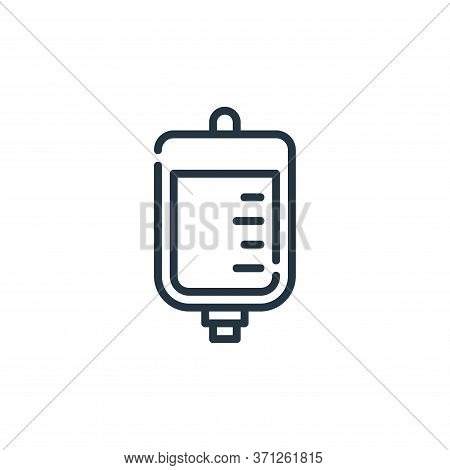 Iv Bag Vector Icon. Iv Bag Editable Stroke. Iv Bag Linear Symbol For Use On Web And Mobile Apps, Log