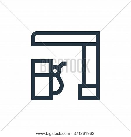 Gas Station Vector Icon. Gas Station Editable Stroke. Gas Station Linear Symbol For Use On Web And M