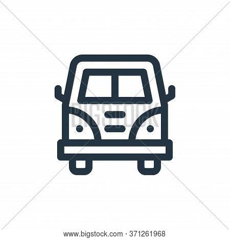 Van Vector Icon. Van Editable Stroke. Van Linear Symbol For Use On Web And Mobile Apps, Logo, Print