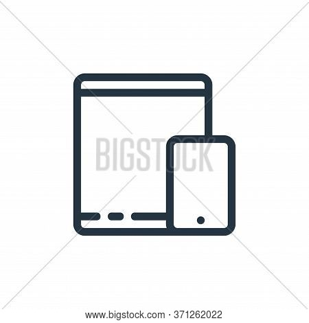 Tablet Vector Icon. Tablet Editable Stroke. Tablet Linear Symbol For Use On Web And Mobile Apps, Log