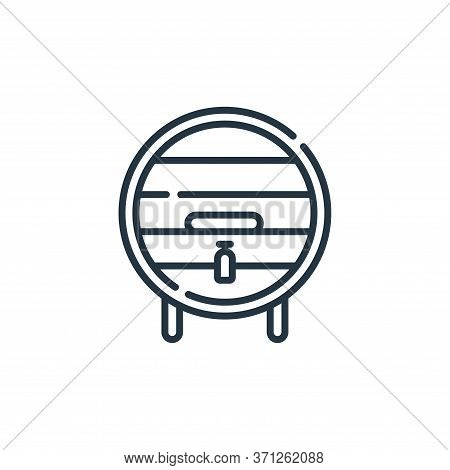 Wine Barrel Vector Icon. Wine Barrel Editable Stroke. Wine Barrel Linear Symbol For Use On Web And M