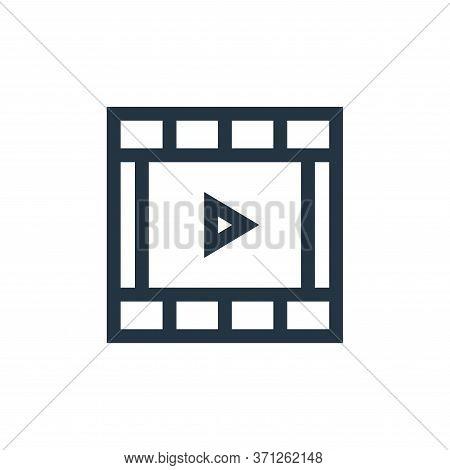 Movie Film Vector Icon. Movie Film Editable Stroke. Movie Film Linear Symbol For Use On Web And Mobi