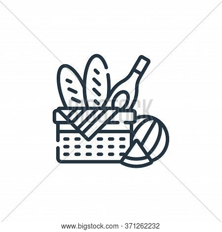 Picnic Vector Icon. Picnic Editable Stroke. Picnic Linear Symbol For Use On Web And Mobile Apps, Log