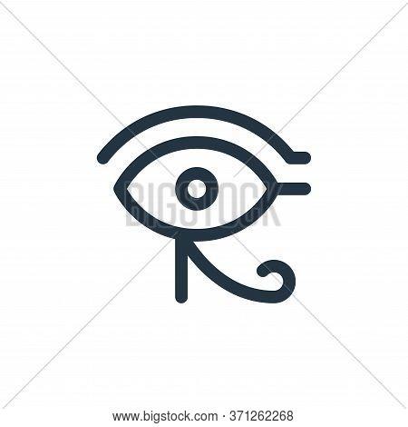 Eye Of Ra Vector Icon. Eye Of Ra Editable Stroke. Eye Of Ra Linear Symbol For Use On Web And Mobile