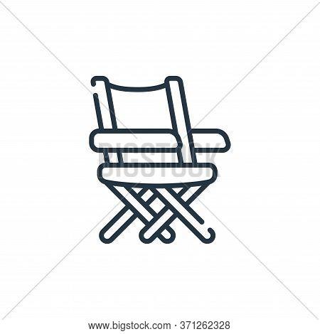Beach Chair Vector Icon. Beach Chair Editable Stroke. Beach Chair Linear Symbol For Use On Web And M