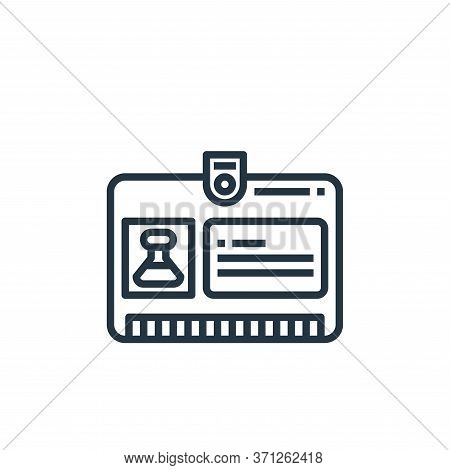 Id Card Vector Icon. Id Card Editable Stroke. Id Card Linear Symbol For Use On Web And Mobile Apps,