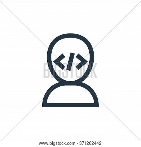 Programmer Vector Icon. Programmer Editable Stroke. Programmer Linear Symbol For Use On Web And Mobi