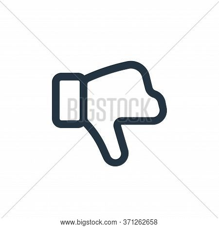 Dislike Vector Icon. Dislike Editable Stroke. Dislike Linear Symbol For Use On Web And Mobile Apps,