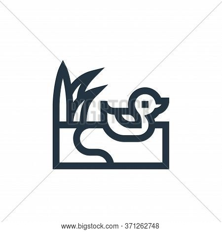 Duck Vector Icon. Duck Editable Stroke. Duck Linear Symbol For Use On Web And Mobile Apps, Logo, Pri