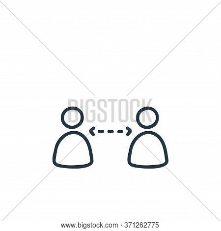 Keep Distance Vector Icon. Keep Distance Editable Stroke. Keep Distance Linear Symbol For Use On Web
