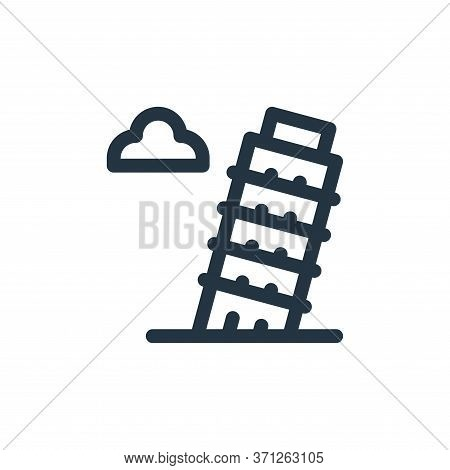 Leaning Tower Of Pisa Vector Icon. Leaning Tower Of Pisa Editable Stroke. Leaning Tower Of Pisa Line