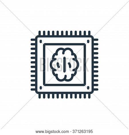 Artificial Intelligence Vector Icon. Artificial Intelligence Editable Stroke. Artificial Intelligenc