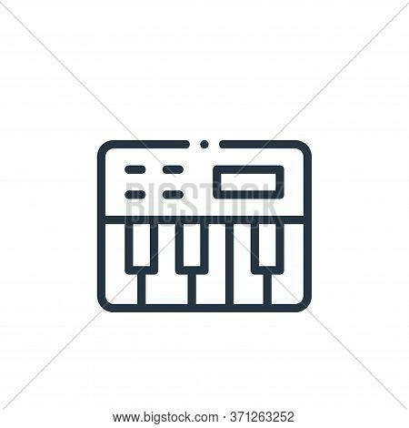 Piano Keyboard Vector Icon. Piano Keyboard Editable Stroke. Piano Keyboard Linear Symbol For Use On