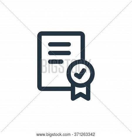 Certificate Vector Icon. Certificate Editable Stroke. Certificate Linear Symbol For Use On Web And M