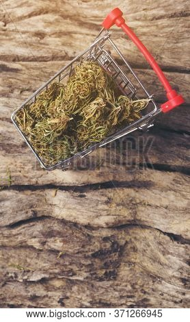 Dried Cannabis Medical Marijuana In Trolley
