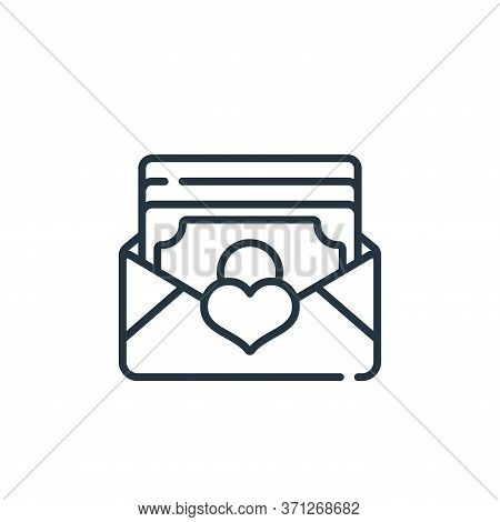 Envelope Vector Icon. Envelope Editable Stroke. Envelope Linear Symbol For Use On Web And Mobile App