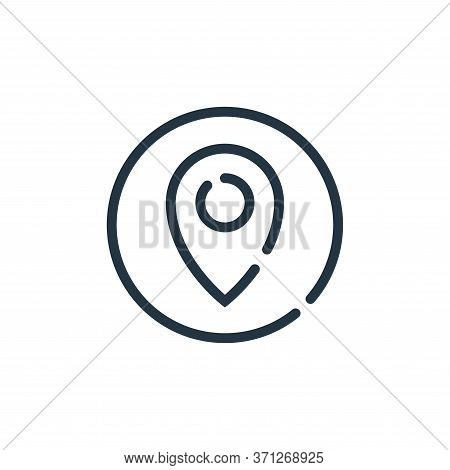Pin Vector Icon. Pin Editable Stroke. Pin Linear Symbol For Use On Web And Mobile Apps, Logo, Print