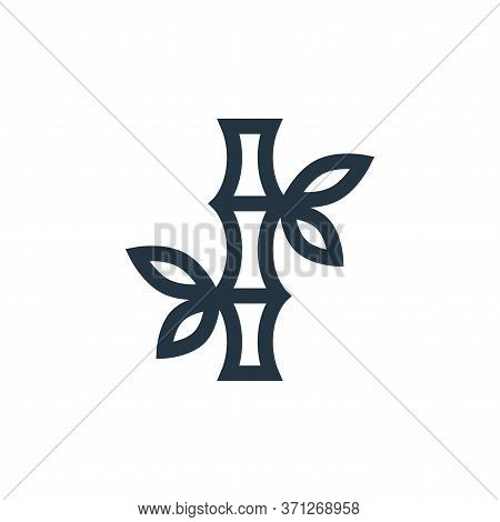 Bamboo Vector Icon. Bamboo Editable Stroke. Bamboo Linear Symbol For Use On Web And Mobile Apps, Log
