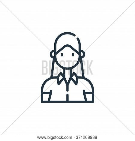 Woman Vector Icon. Woman Editable Stroke. Woman Linear Symbol For Use On Web And Mobile Apps, Logo,