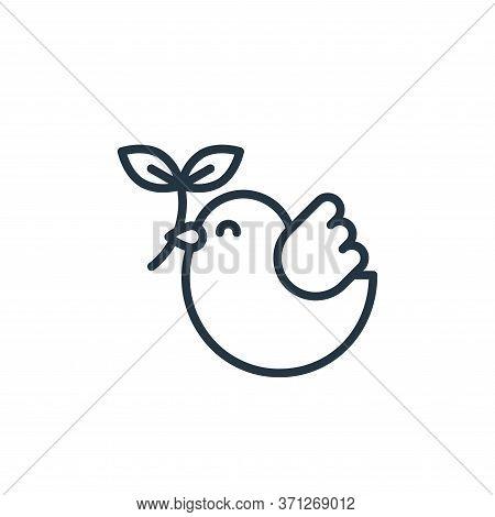 Dove Vector Icon. Dove Editable Stroke. Dove Linear Symbol For Use On Web And Mobile Apps, Logo, Pri