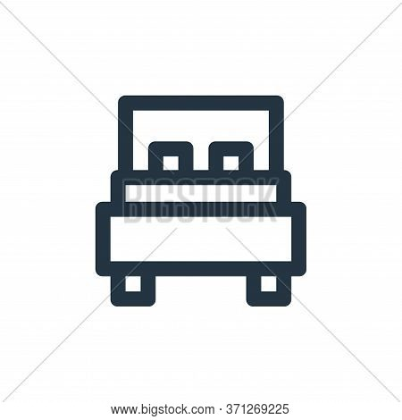 Double Bed Vector Icon. Double Bed Editable Stroke. Double Bed Linear Symbol For Use On Web And Mobi