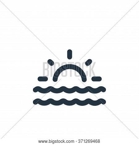 Sunrise Vector Icon. Sunrise Editable Stroke. Sunrise Linear Symbol For Use On Web And Mobile Apps,