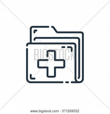 Medical Folder Vector Icon. Medical Folder Editable Stroke. Medical Folder Linear Symbol For Use On