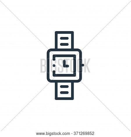 Wristwatch Vector Icon. Wristwatch Editable Stroke. Wristwatch Linear Symbol For Use On Web And Mobi