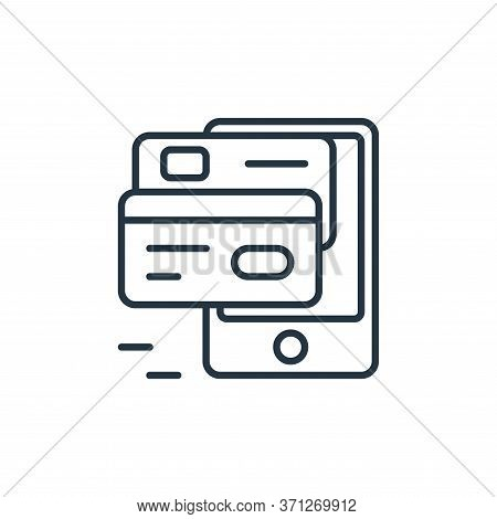 Mobile Payment Vector Icon. Mobile Payment Editable Stroke. Mobile Payment Linear Symbol For Use On