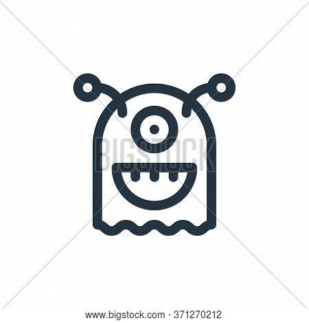 Monster Vector Icon. Monster Editable Stroke. Monster Linear Symbol For Use On Web And Mobile Apps,