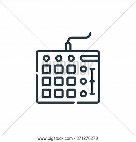 Mixer Vector Icon. Mixer Editable Stroke. Mixer Linear Symbol For Use On Web And Mobile Apps, Logo,