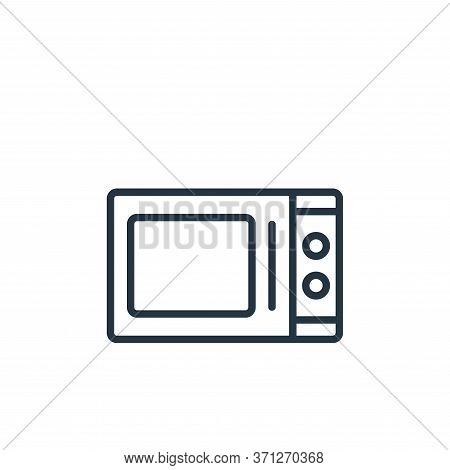 Microwave Oven Vector Icon. Microwave Oven Editable Stroke. Microwave Oven Linear Symbol For Use On