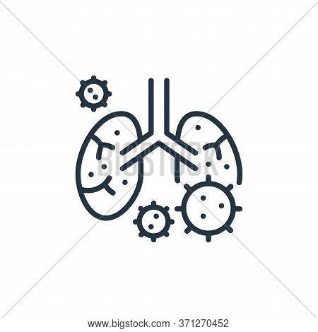 Pneumonia Vector Icon. Pneumonia Editable Stroke. Pneumonia Linear Symbol For Use On Web And Mobile