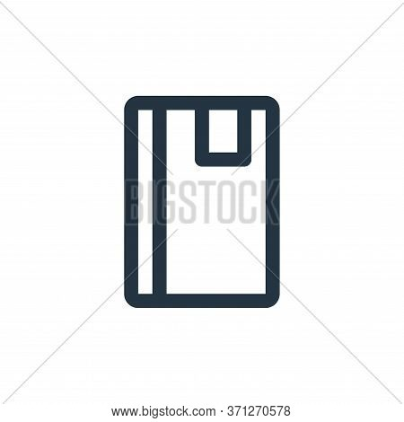 Note Book Vector Icon. Note Book Editable Stroke. Note Book Linear Symbol For Use On Web And Mobile