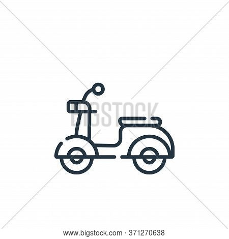 Scooter Vector Icon. Scooter Editable Stroke. Scooter Linear Symbol For Use On Web And Mobile Apps,