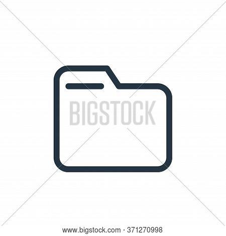 Folder Vector Icon. Folder Editable Stroke. Folder Linear Symbol For Use On Web And Mobile Apps, Log