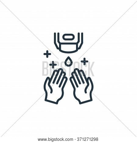Hand Sanitizer Vector Icon. Hand Sanitizer Editable Stroke. Hand Sanitizer Linear Symbol For Use On