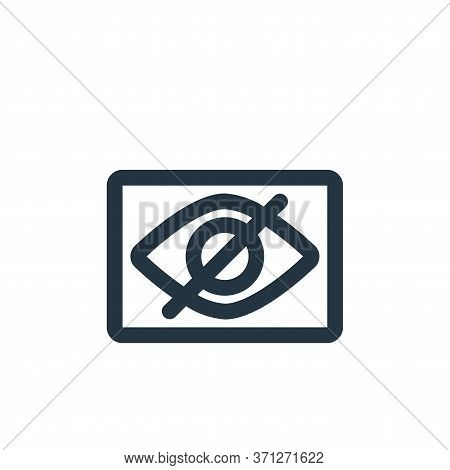 Visible Vector Icon. Visible Editable Stroke. Visible Linear Symbol For Use On Web And Mobile Apps,