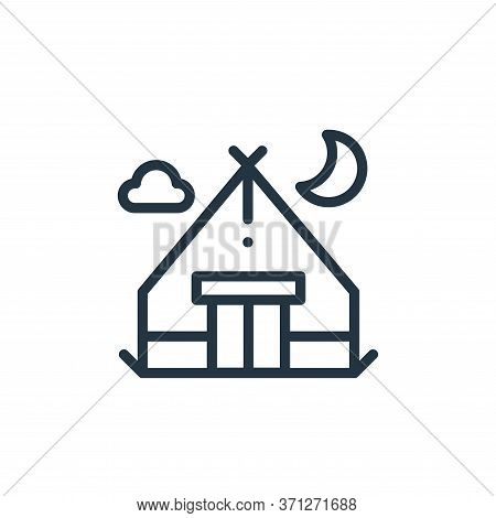 Camping Tent Vector Icon. Camping Tent Editable Stroke. Camping Tent Linear Symbol For Use On Web An