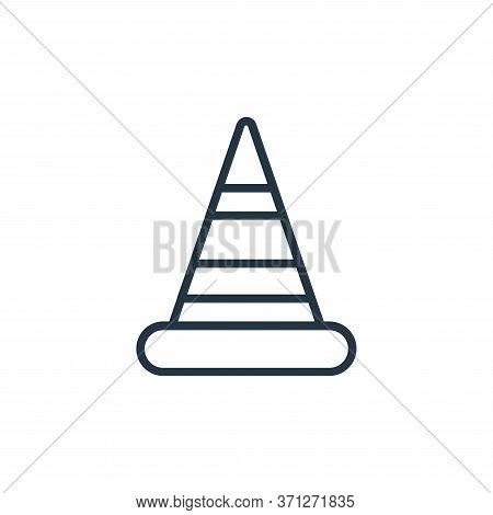 Cone Vector Icon. Cone Editable Stroke. Cone Linear Symbol For Use On Web And Mobile Apps, Logo, Pri