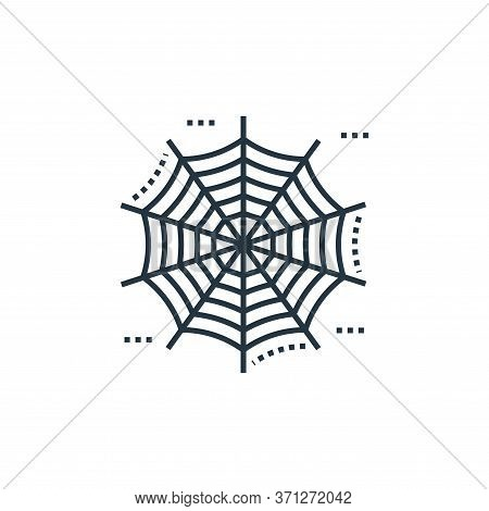 Spider Web Vector Icon. Spider Web Editable Stroke. Spider Web Linear Symbol For Use On Web And Mobi