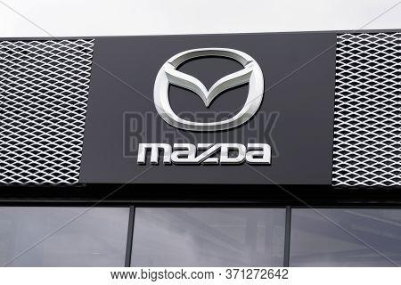 Bordeaux , Aquitaine / France - 10 02 2019 : Car Sign Logo Store Mazda Automobile Dealership Shop Ja